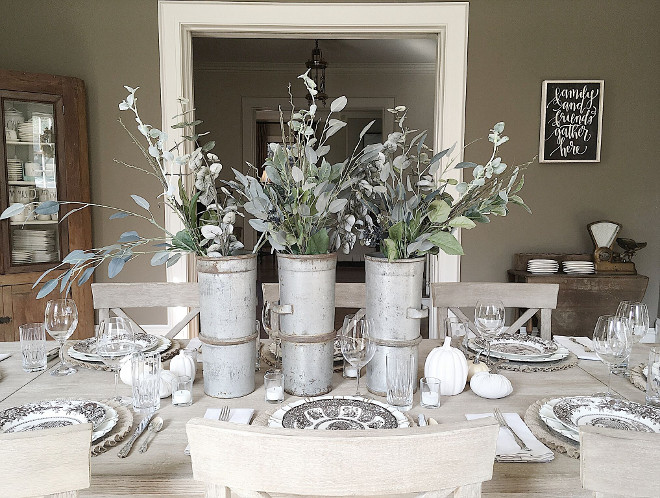 Farmhouse Metal Vases. Farmhouse Metal Vases. Farmhouse Metal Vases Zinc Farmhouse Metal Vases #Farmhouse #MetalVases Beautiful Homes of Instagram @my100yearoldhome