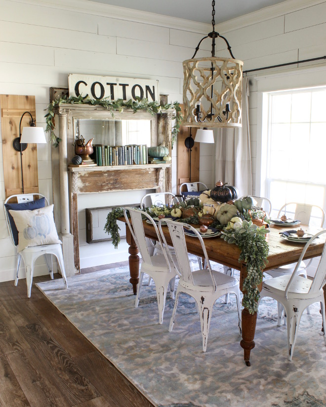 Farmhouse Shiplap Fall Decor Dining room. Farmhouse Shiplap Fall Decor Dining room. Farmhouse Shiplap Fall Decor Dining room. Inspiring Farmhouse Shiplap Fall Decor Dining room #Farmhouse #Shiplap #FallDecor #Diningroom Home Bunch Beautiful Homes of Instagram @cottonstem