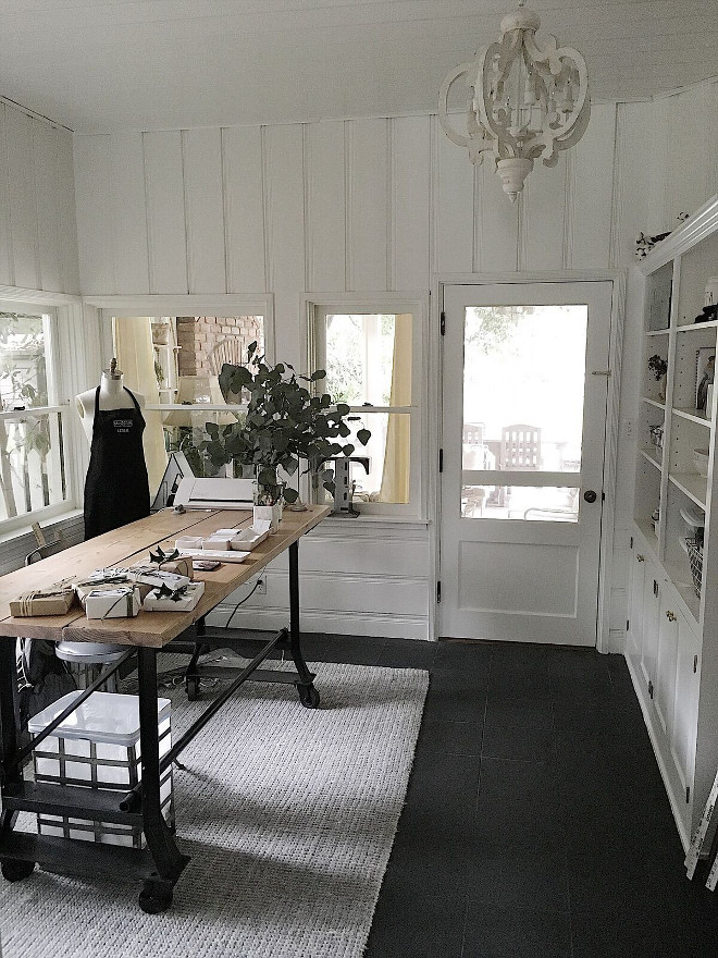 Farmhouse Work Table. Craftroom work table. Industrail work table. Farmhouse Work Table. Craftroom work table #Farmhouse #WorkTable #Craftroom #industrialworktable Beautiful Homes of Instagram @my100yearoldhome