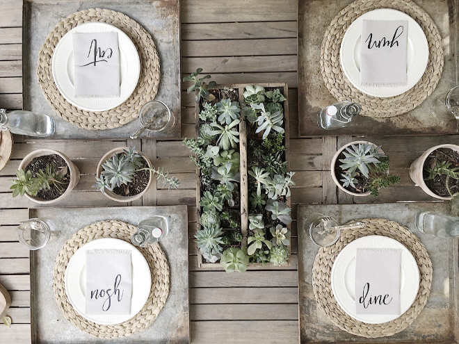 Farmhouse succulent decor. Farmhouse succulent decor ideas. Succulents are from Rose Bowl Flea Market. Farmhouse succulent table decor #Farmhouse #succulent #decor Beautiful Homes of Instagram @my100yearoldhome