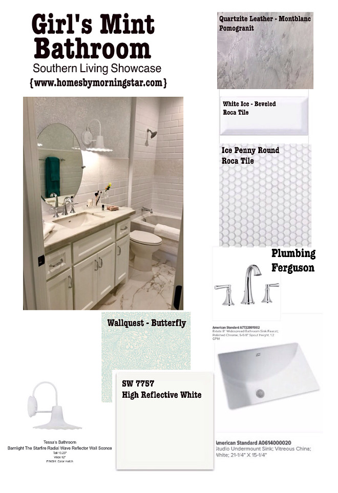 Girls bathroom sources. Pin this to have all of the information on the sources used in this bathroom. Morning Star Builders
