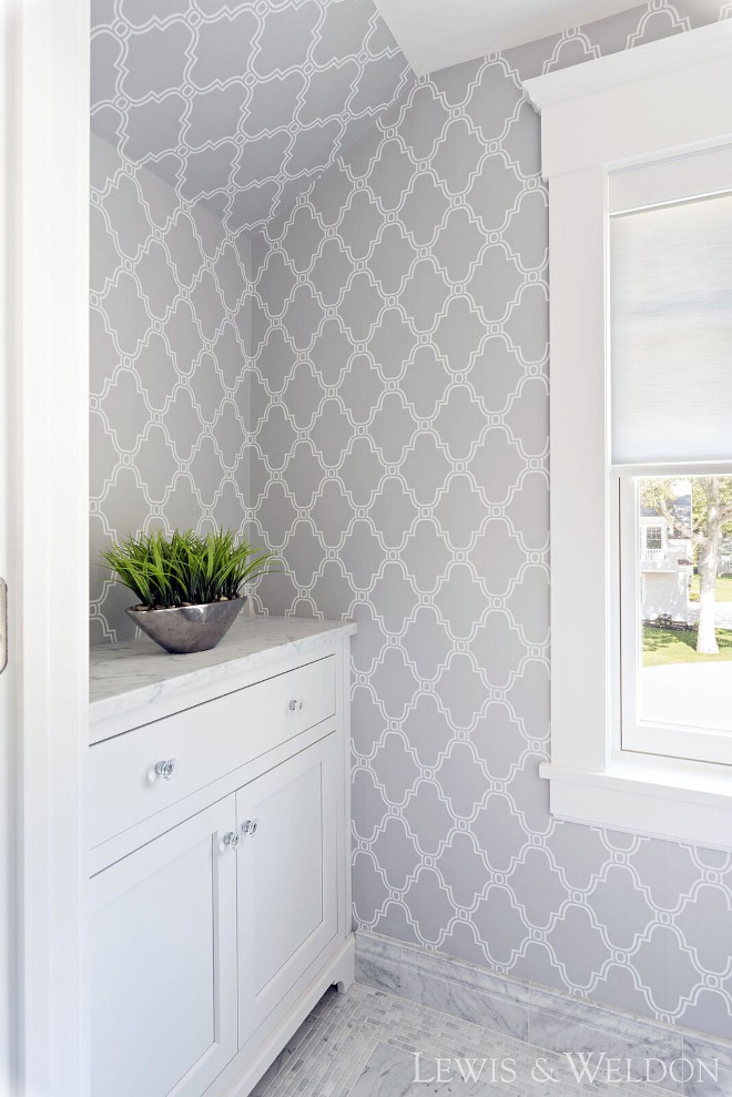 Grey wallpaper Grey wallpaper is Thibaut Stanbury Trellis, color Grey. Grey wallpaper is Thibaut Stanbury Trellis, color Grey. Grey wallpaper is Thibaut Stanbury Trellis, color Grey. #Greywallpaper #ThibautStanburyTrellis #Grey Lewis & Weldon Custom Kitchens