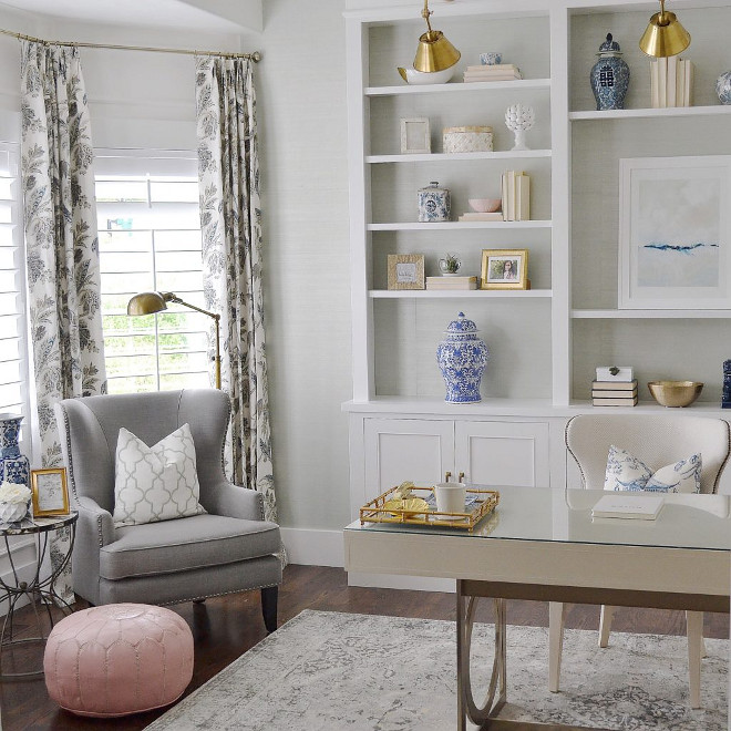Home Office. Home Office Ideas. Home Office seating area. Home Office bookcase. Home office decor #homeoffice Sita Montgomery Interiors