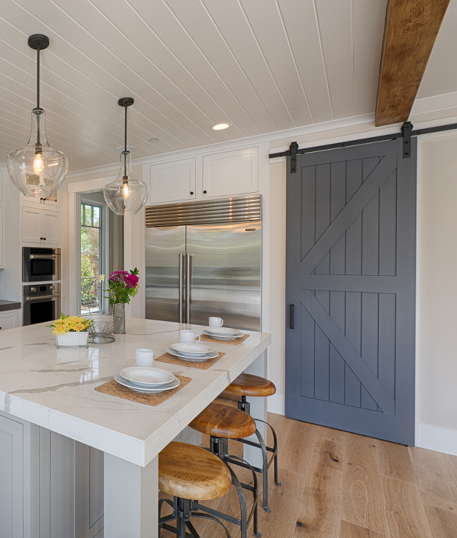 Sherwin Williams Paint Colors Sherwin Williams Peppercorn SW7674. Barn door paint color Sherwin Williams Peppercorn SW7674. Kitchen pantry barn door paint color #SherwinWilliamsPeppercornSW7674 #SherwinWilliamsPeppercorn #SherwinWilliamsSW7674 #barndoor #paintcolor #pantrydoor #SherwinWilliamsPaintcolors AK Construction