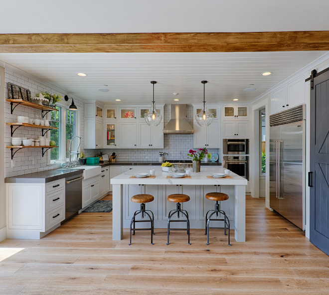 Modern Farmhouse kitchen with light grey island. White Modern Farmhouse kitchen with light grey island. Modern Farmhouse kitchen with light grey island. Modern Farmhouse kitchen with light grey island. Modern Farmhouse kitchen with light grey island #ModernFarmhousekitchen #lightgreyisland #greyisland AK Construction