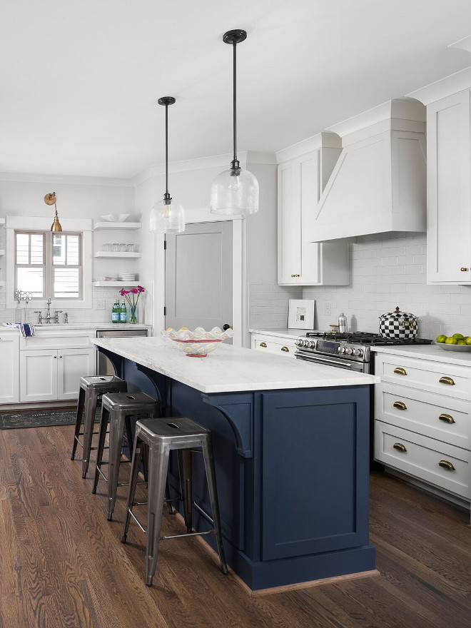 Navy Kitchen Island Paint Color Navy Seawall Sherwin Williams. Navy Seawall Sherwin Williams. Navy Seawall Sherwin Williams #NavySeawallSherwinWilliam #NavyKitchenIsland #PaintColor Willow Homes