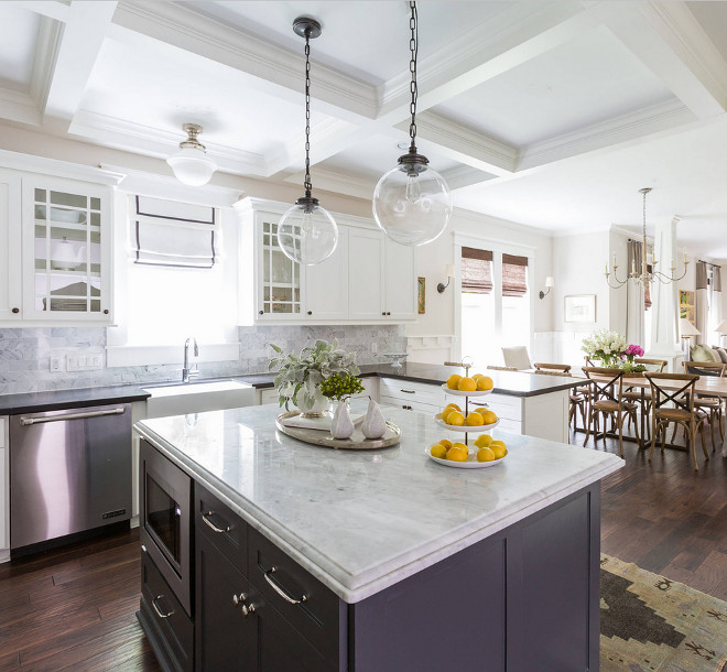 Image Result For White And Gray Kitchen With Island