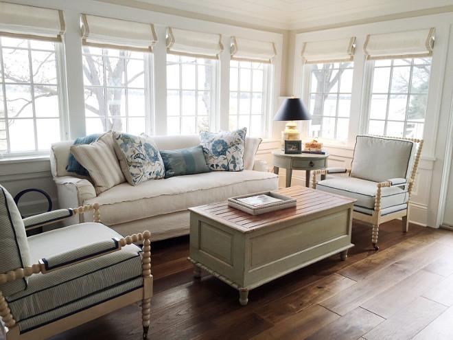 Sunroom. Coastal Sunroom. Coastal Sunroom ideas #Sunroom #coastalSunroom #coastalinteriors Beautiful Homes of Instagram @SweetShadyLane