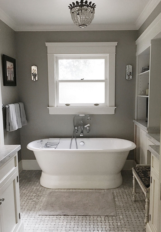 Traditional Bathroom with Freestanding Bathtub. Traditional Bathroom with Freestanding Bathtub. Traditional Bathroom with Freestanding Bathtub. Traditional Bathroom with Freestanding Bathtub. Traditional Bathroom with Freestanding Bathtub #TraditionalBathroom #FreestandingBathtub Beautiful Homes of Instagram @my100yearoldhome