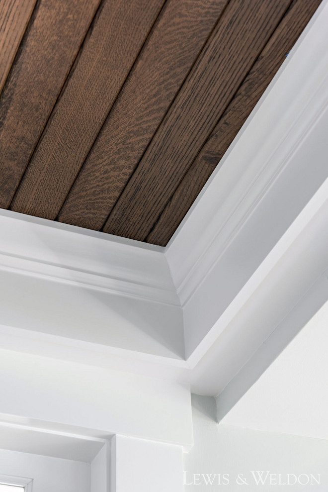 "V-groove ceiling and trim. V-groove ceiling and trim. Ceiling treatment is White Oak, espresso stain 4"" v-groove. V-groove ceiling and trim. V-groove ceiling and trim. V-groove ceiling and trim #Vgroove #Vgrooveceiling #trim Lewis & Weldon"