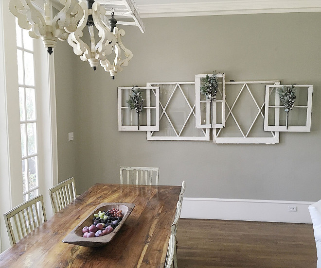Vintage windows. DIY Vintage Windows Farmhouse DIY How to hang the vintage windows #vintagewindows #howtohangvintagewindows Beautiful Homes of Instagram @my100yearoldhome