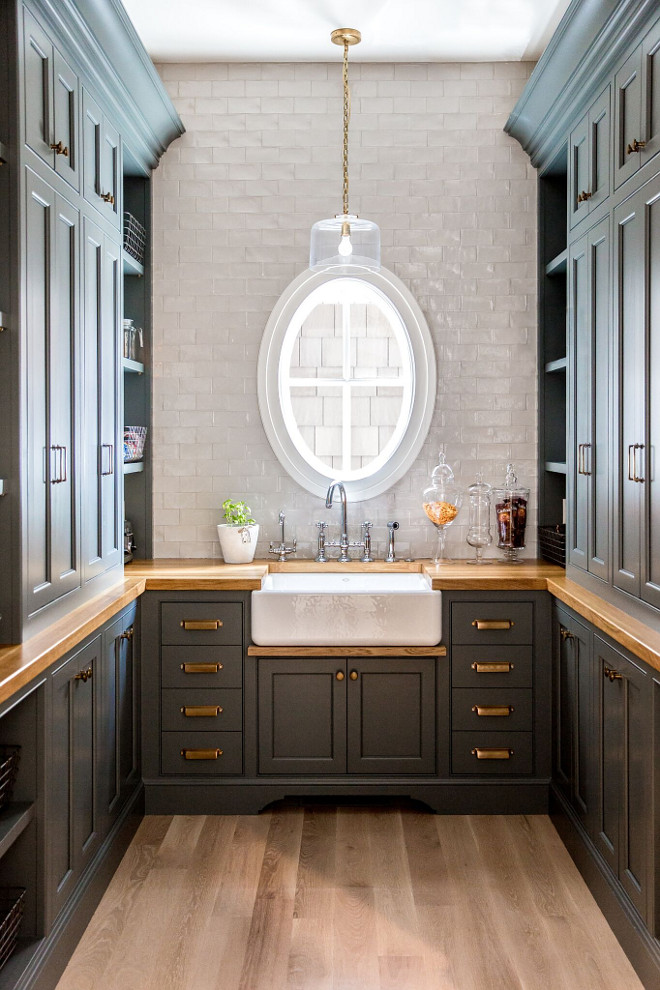 "Walk in Butlers Pantry. Walk in Butlers Pantry painted in ""Farrow and Ball Down Pipe"".. Walk in Butlers Pantry. Walk in Butlers Pantry. Walk in Butlers Pantry. Walk in Butlers Pantry. Walk in Butlers Pantry. Walk in Butlers Pantry #WalkinButlersPantry #ButlersPantry Caitlin Creer Interiors. C. S. Cabinetry & Design"