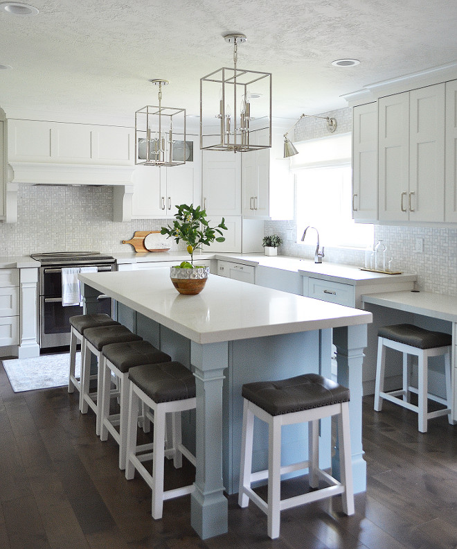 Watery SW6478 Sherwin Williams. Light turquoise paint color Watery SW6478 Sherwin Williams. Light turquoise island paint color Watery SW6478 Sherwin Williams #WaterySW6478SherwinWilliams Sita Montgomery Interiors