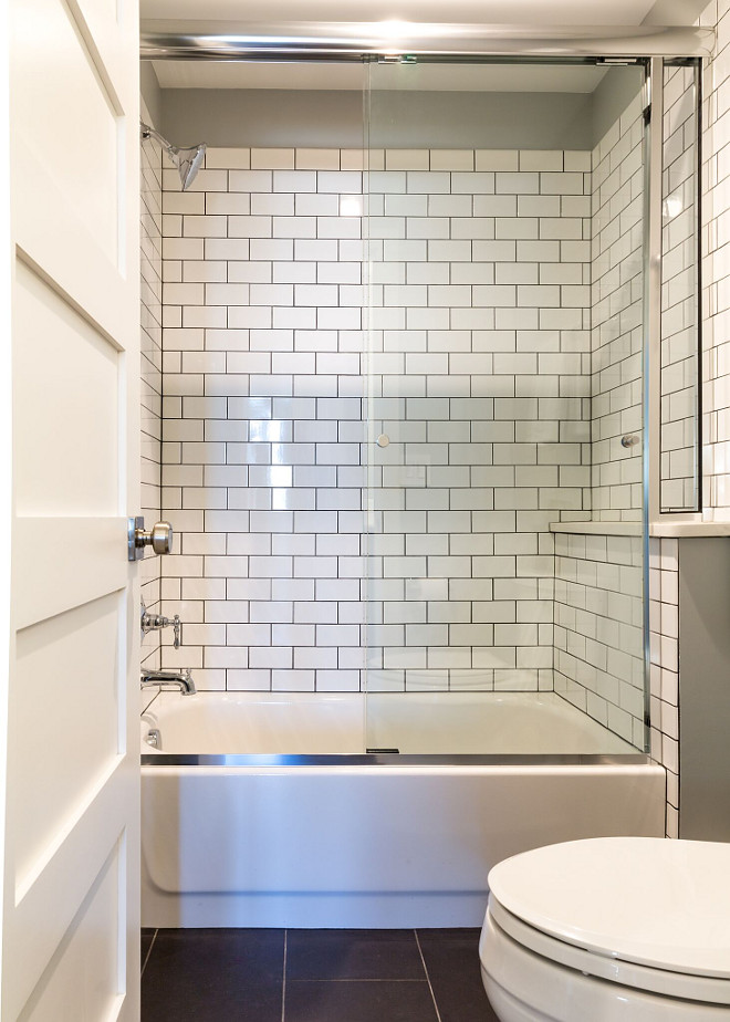 Bath Shower with subway tile