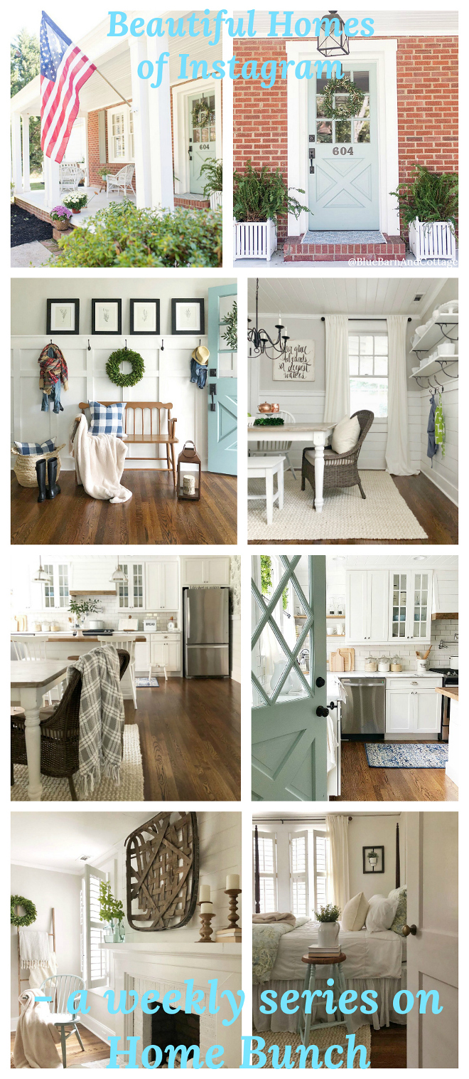 Beautiful Homes of Instagram Farmhouse with DIY interiors @BlueBarnAndCottage
