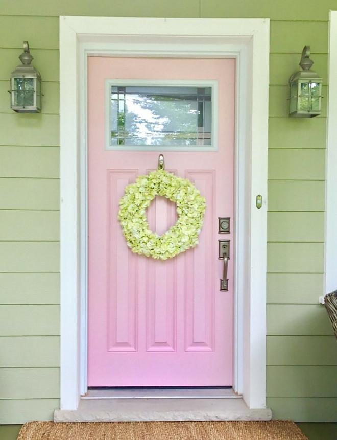 Benjamin Moore Cat's Meow 1332 Pink Front Door Paint Color Benjamin Moore Cat's Meow 1332 Benjamin Moore Cat's Meow 1332 #BenjaminMooreCatsMeow #BenjaminMoore1332 #pink #frontdoor #paintcolor