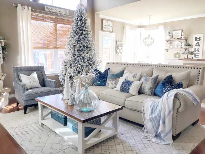 blue and white christmas decor blue and white christmas decor blue and white christmas decor living - Blue And White Christmas Decorations