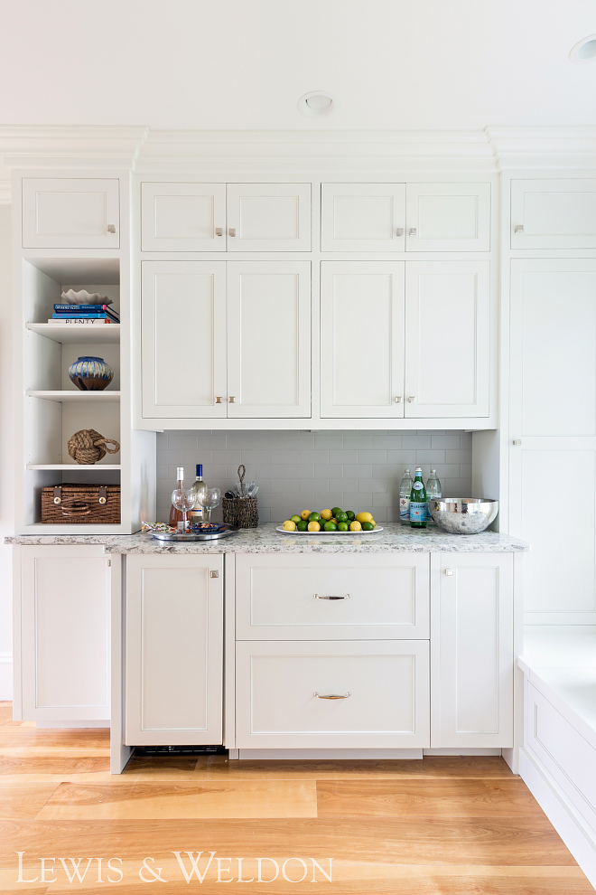 Butler's Pantry with grey tile White Butler's Pantry with grey tile #ButlesPantry #greytile