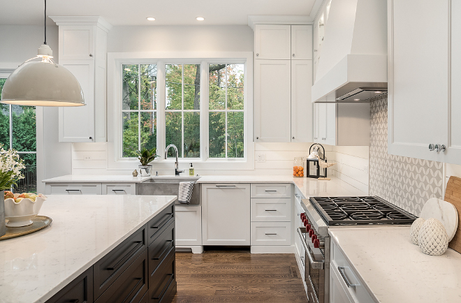 Cashmere Carrara Countertop Kitchen with Cashmere Carrara countertop