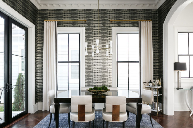 Dining room wallpaper. Dining room features a Thibaut wallpaper #Thibaut #wallpaper #diningroom Ramage Company