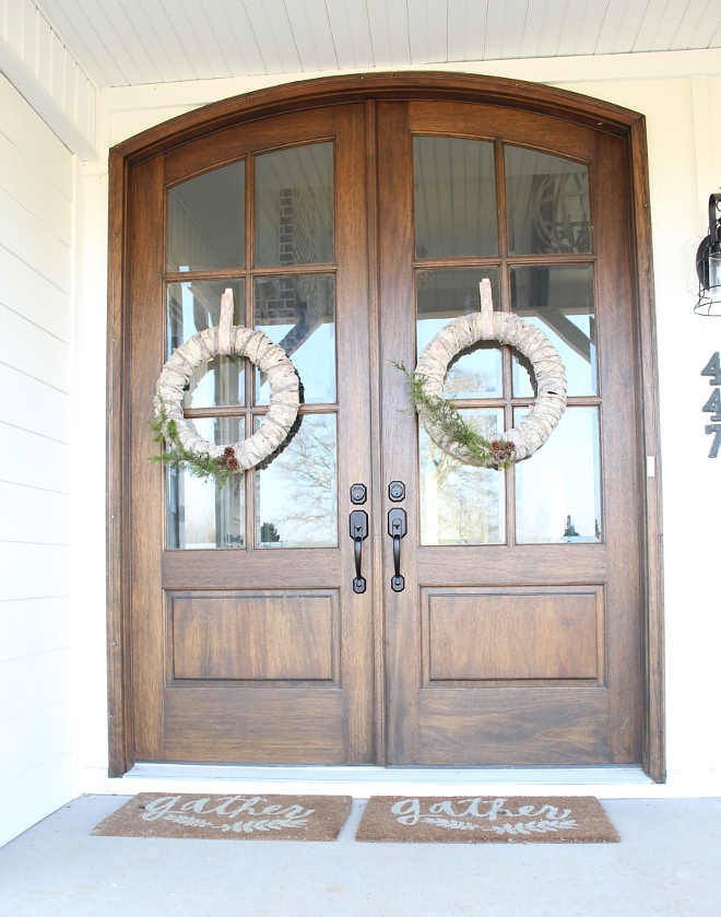 Double Door Wreath Ideas