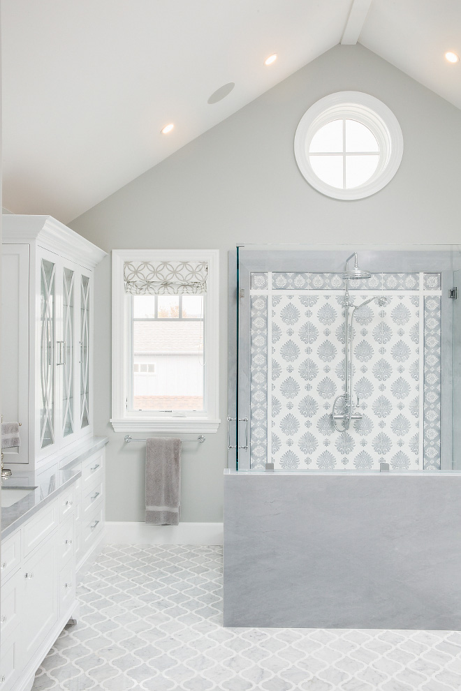 Grey Bathroom Tile Ideas Grey Bathroom Tile combination Grey Bathroom Tiles Grey Bathroom Tiling Grey Bathroom Tile #GreyBathroomTile