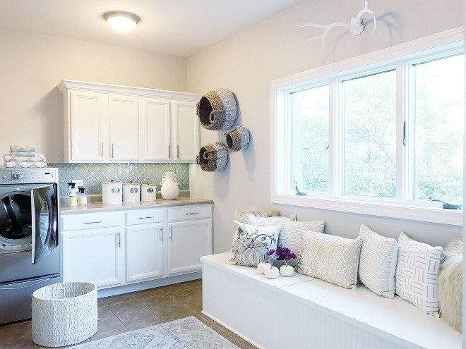 Neutral Laundry room paint color Sherwin Williams Balanced Beige Neutral Laundry room paint color Sherwin Williams Balanced BeigeNeutral Laundry room paint color Sherwin Williams Balanced Beige #NeutralLaundryroom #paintcolor #SherwinWilliamsBalancedBeige Beautiful Homes of Instagram Home Bunch