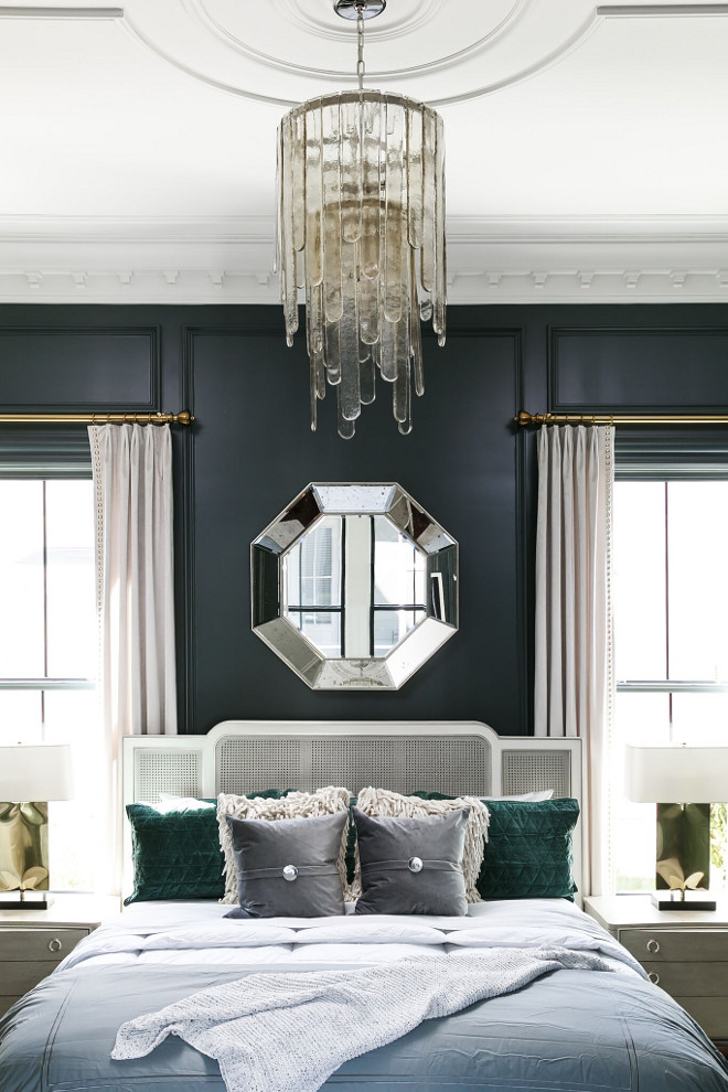 PPG1036-7 Mostly Metal. Dark bedroom paint color PPG1036-7 Mostly Metal. PPG1036-7 Mostly Metal is a chic dark paint color PPG1036-7 Mostly Metal #PPG0367MostlyMetal Ramage Company