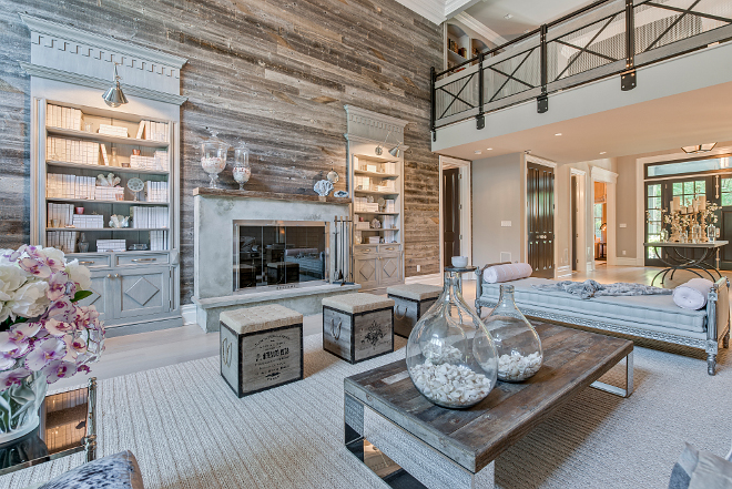 Reclaimed Shiplap Reclaimed Shiplap Reclaimed Shiplap Reclaimed Shiplap Reclaimed Shiplap Reclaimed Shiplap Reclaimed shiplap adds warmth and texture to this large living room #ReclaimedShiplap