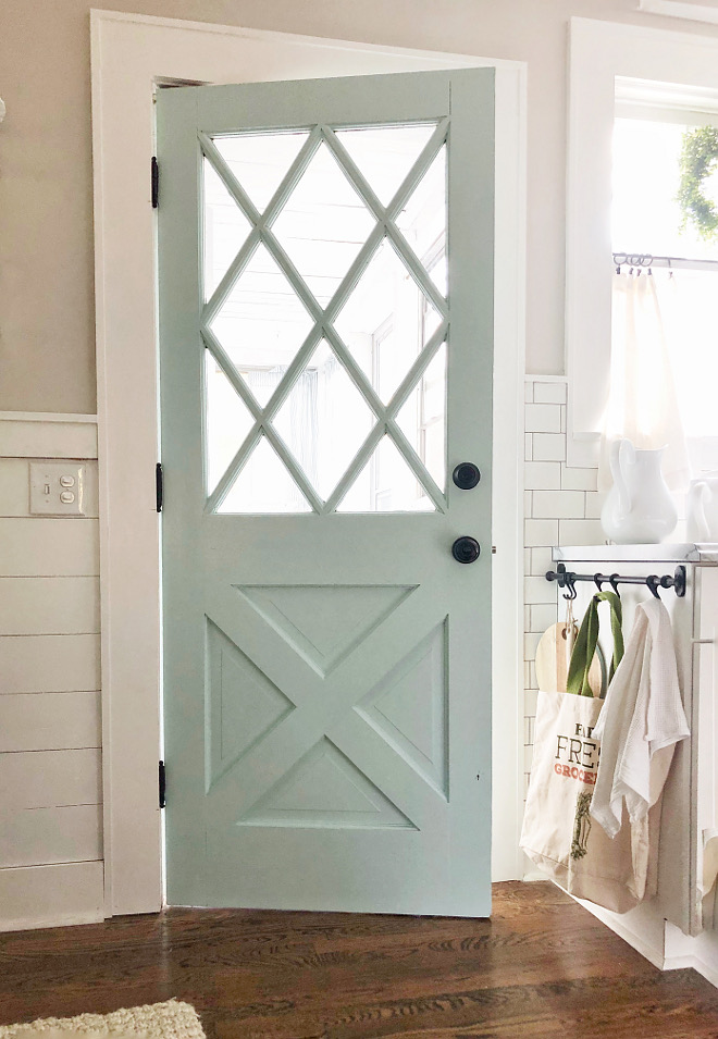 Robin's egg blue door paint color Behr 'Whipped Mint' Robin's egg blue door paint color Behr 'Whipped Mint' #Robinseggbluedoorpaintcolor #Robinseggblue #door #paintcolor #BehrWhippedMint