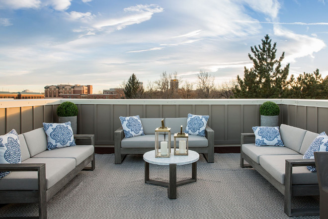 Roof deck This roof deck maximize space and views #roofdeck