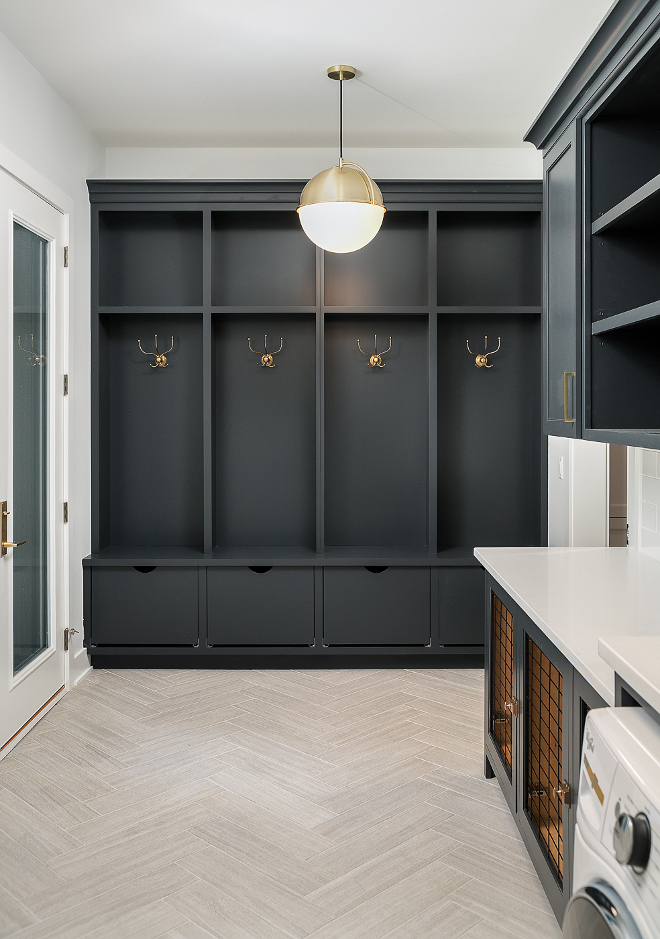Sherwin Williams SW 7069 Iron Ore Sherwin Williams SW 7069 Iron Ore Mudroom cabinet paint color Sherwin Williams SW 7069 Iron Ore #SherwinWilliamsSW7069IronOre #SherwinWilliamsIronOre