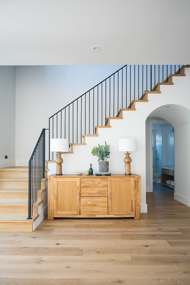 Staircase wrought iron stair railing Gorgeous modern farmhouse foyer Staircase wrought iron stair railing #Staircase #wroughtironstairrailing #modernfarmhouse