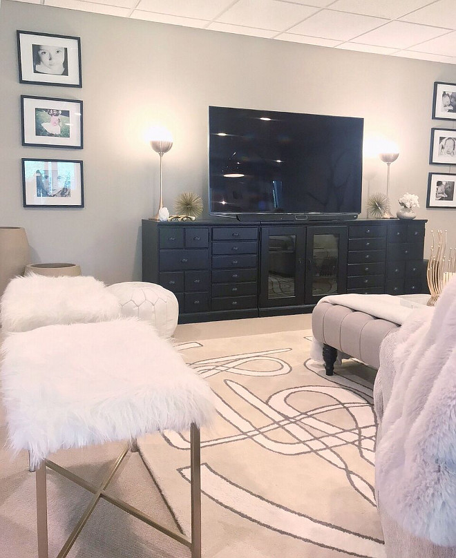 TV console Basement family room TV console TV console #TVconsole Beautiful Homes of Instagram Home Bunch
