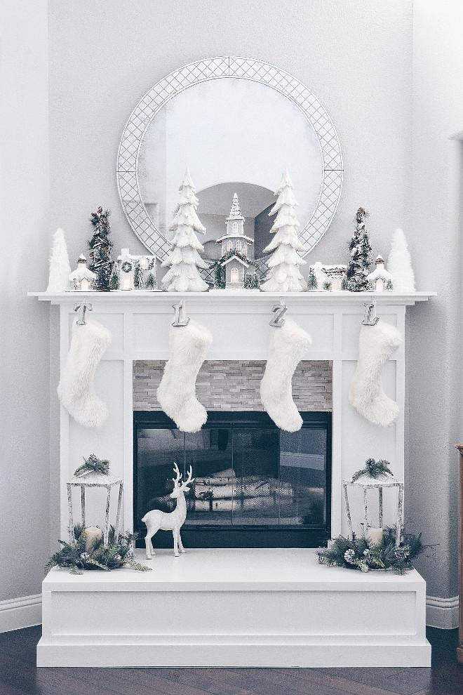 White Christmas Fireplace Decor White Christmas Fireplace Decor White Christmas Fireplace Decor