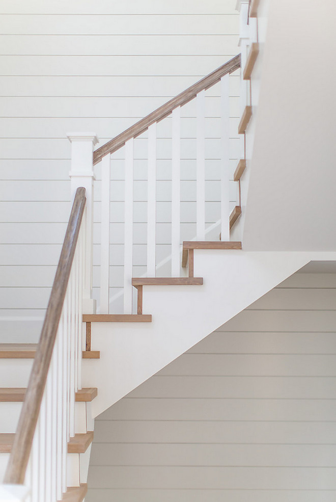 White Oak Staircase Treads with shiplap paneling White Oak Staircase Treads with shiplap paneling White Oak Staircase Treads with shiplap paneling White Oak Staircase Treads with shiplap paneling #WhiteOakStaircase #staircaseTreads #shiplap #paneling