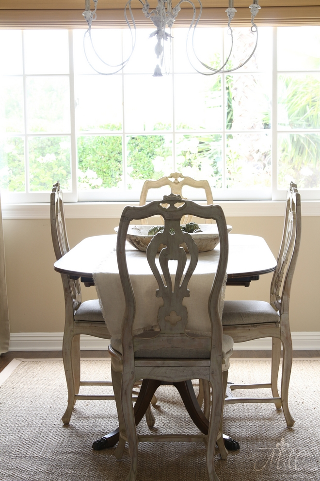 Dining table and dining chairs are antiques Beautiful Homes of Instagram @maisondecinq