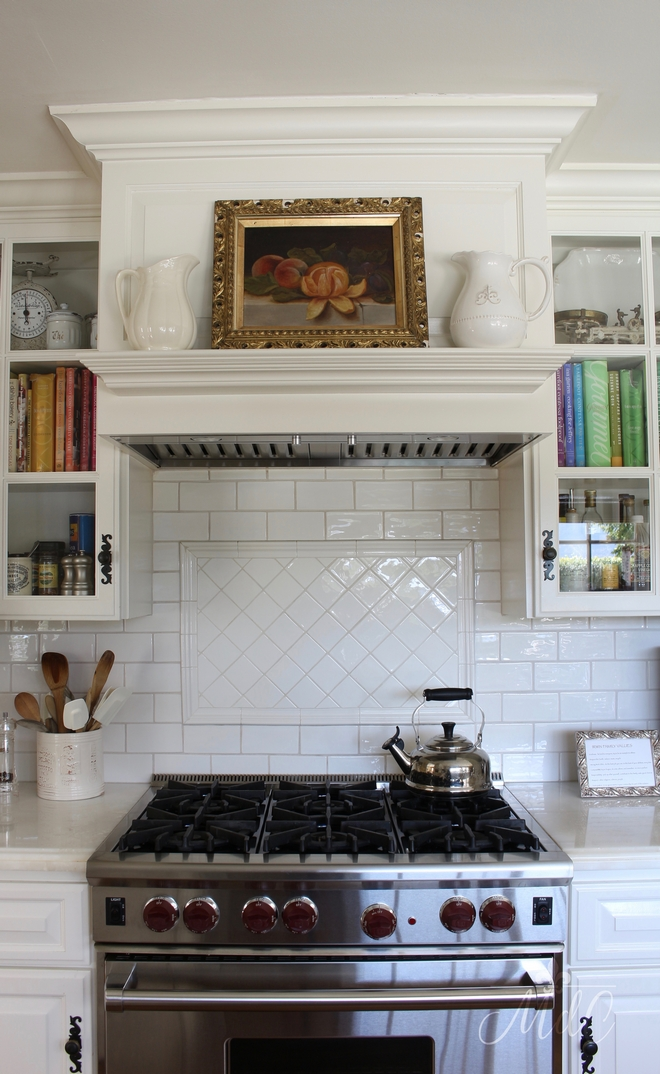 Backsplash behind range subway tile from Waterworks. Beautiful Homes of Instagram @maisondecinq