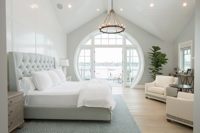 Master Bedroom Window The notable harbor view takes full advantage of spectacular city views through a custom ocular glazed window/door system off the Master Bedroom creating a distinct character for the home