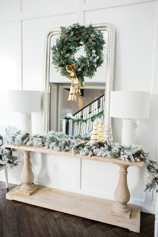 Christmas Console Table Decor