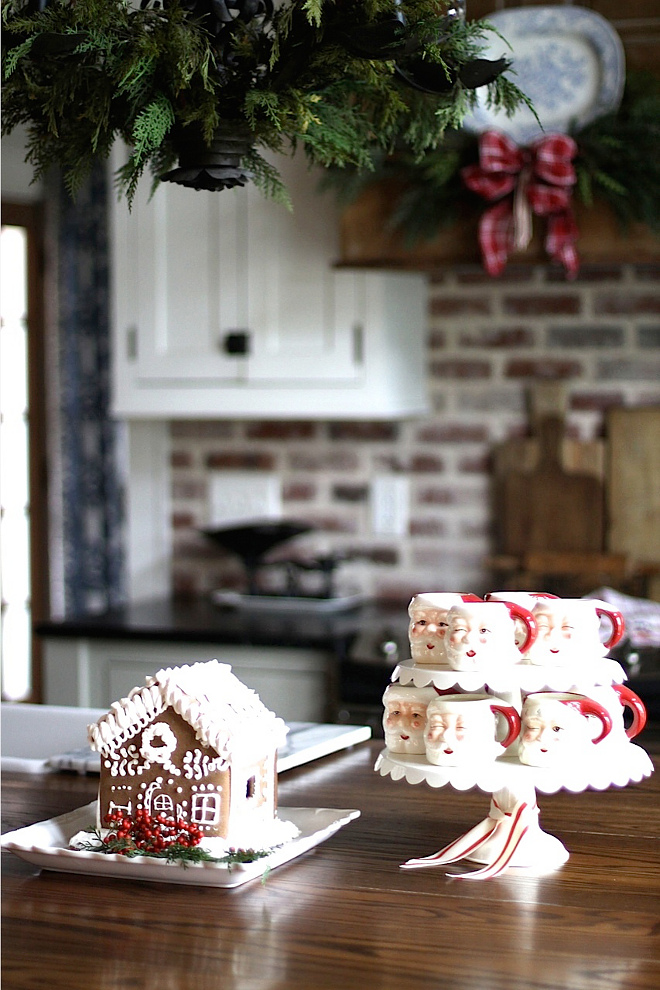 Gingerbread house decoration with kids