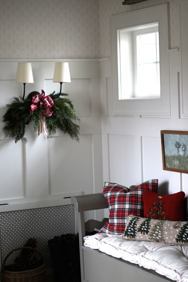 Mudroom Christmas Decor Sconce Christmas decor