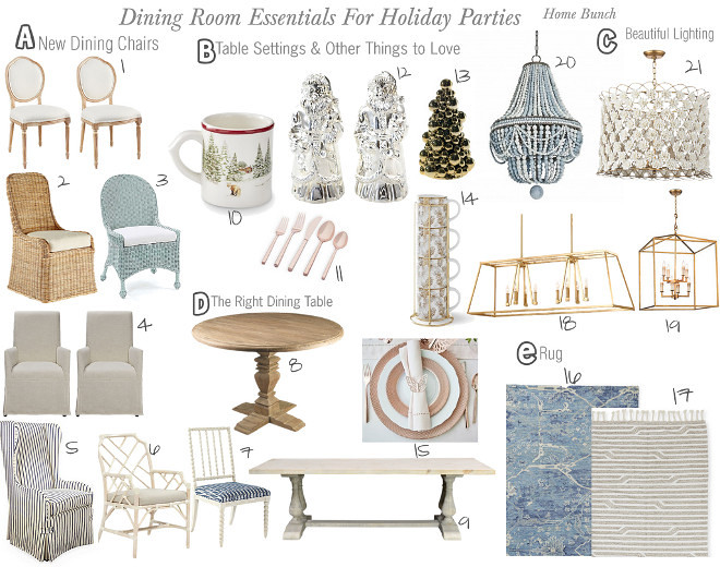 Dining room essentials for Holiday parties - Home Bunch
