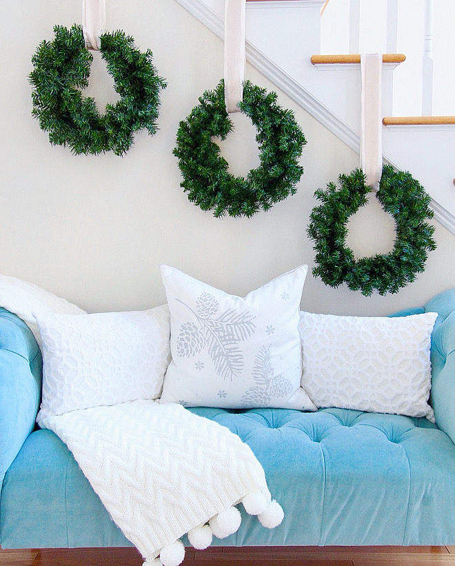 Stair Wreath Ideas