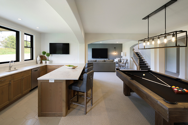 Basement Bar and Billiard Table Layout Basement Bar and Billiard Table Layout Ideas #Basement #Bar #BilliardTable