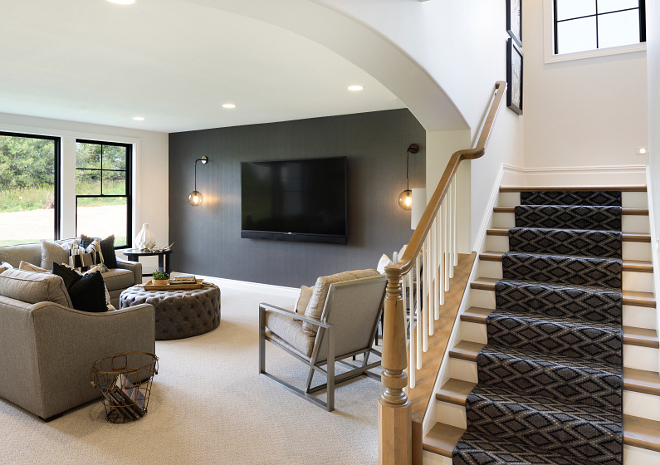 Basement Family room Modern Farmhouse Basement Family room #Basement #Familyroom