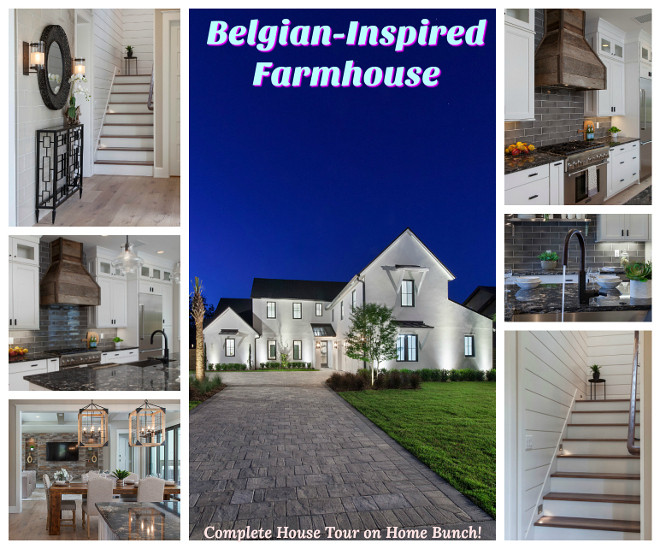 Belgian-Inspired Farmhouse Belgian-Inspired Farmhouse HOuse Tour Home Bunch House tour
