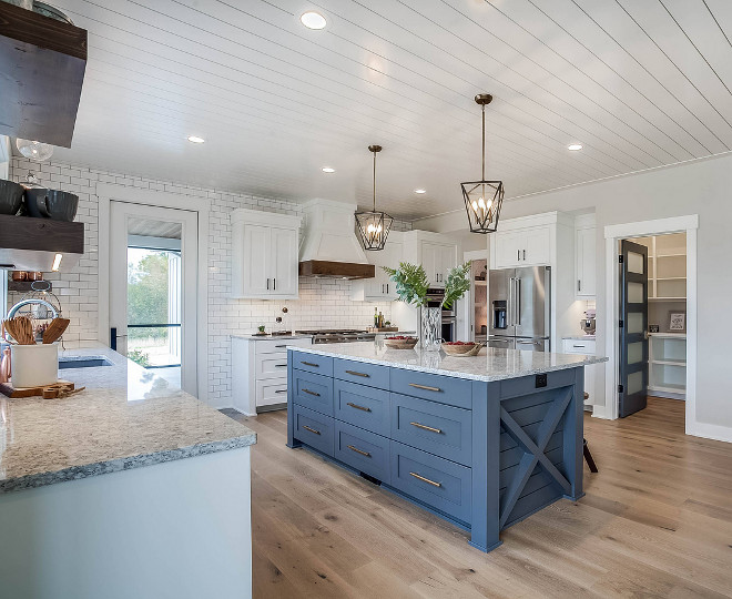 Blue kitchen island Farmhouse blue kitchen island Blue kitchen island Farmhouse blue kitchen island design #Bluekitchenisland #Farmhousebluekitchenisland