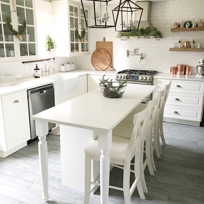 Cabinetry color Pure White by Sherwin Williams SW 7005