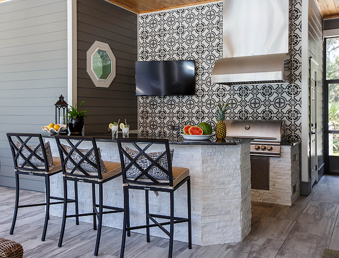 Cement Tile Backsplash Outdoo Kitchen Cement Tile Backsplash Cement Tile Backsplash
